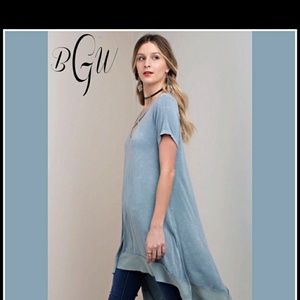 💥💙 gorgeous boho mineral wash tunic